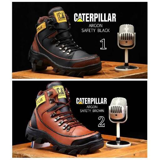 Sepatu Caterpillar Argon Safety Boots Pria Proyek Tracking CAT Boot Cowok
