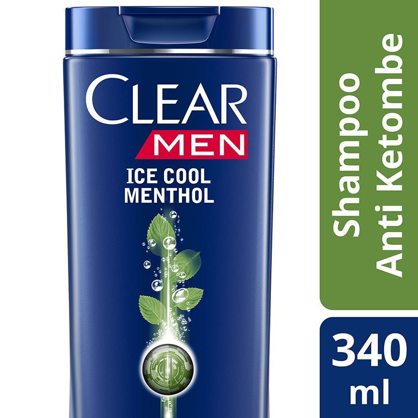 Clear Men Shampoo Anti Ketombe Ice Cool Menthol 340Ml
