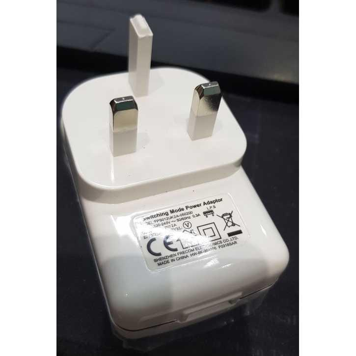 Charger xiaomi/Charger samsung/Charger mobil/Charger motor/Charger hp/Charger iphone/Charger oppo/Charger xiaomi original fast charging Traveler Charger 1 USB Port 5V 2 A US Plug - FPS012UK2A-050200