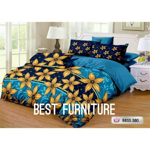 Best Furniture Bedcover Set Cantik dengan Selimut dan Seprai uk King 180x200cm
