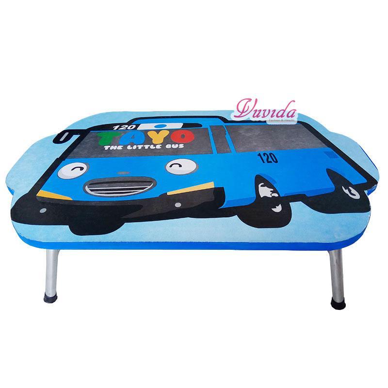 Meja Belajar Anak Karakter motif TAYO biru / meja belajar anak lipat / meja belajar anak kayu / meja belajar anak murah