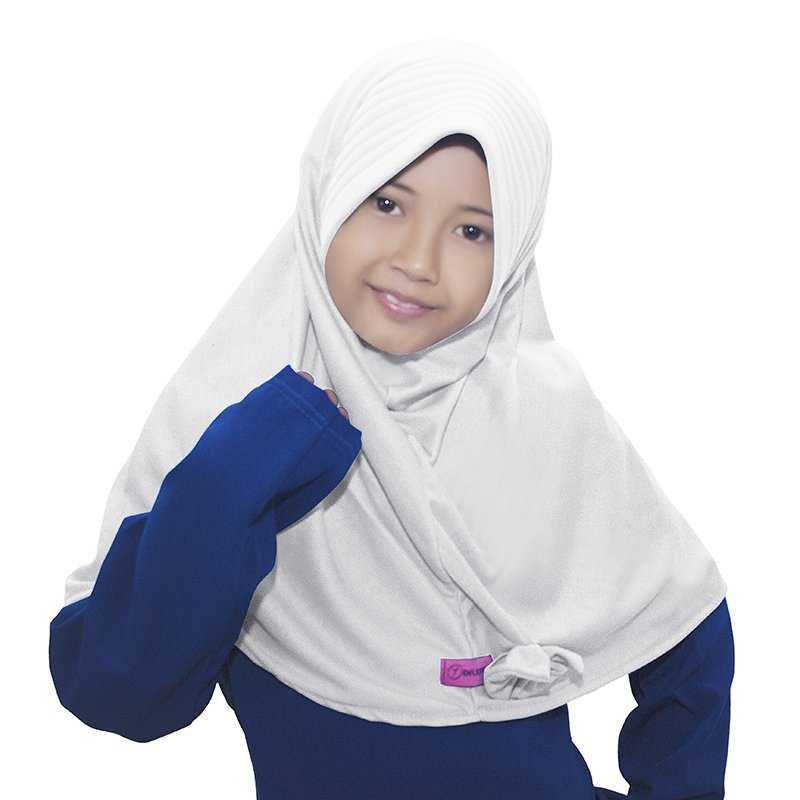 BAJUYULI - Kerudung Jilbab Anak Murah Polos Pita Cantik