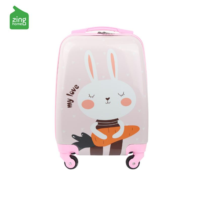 e01de51fa7 Wake Children s Cartoon Travel Trolley Universal Wheel Luggage man Can Be  Riding women Baby Travel Lugguge
