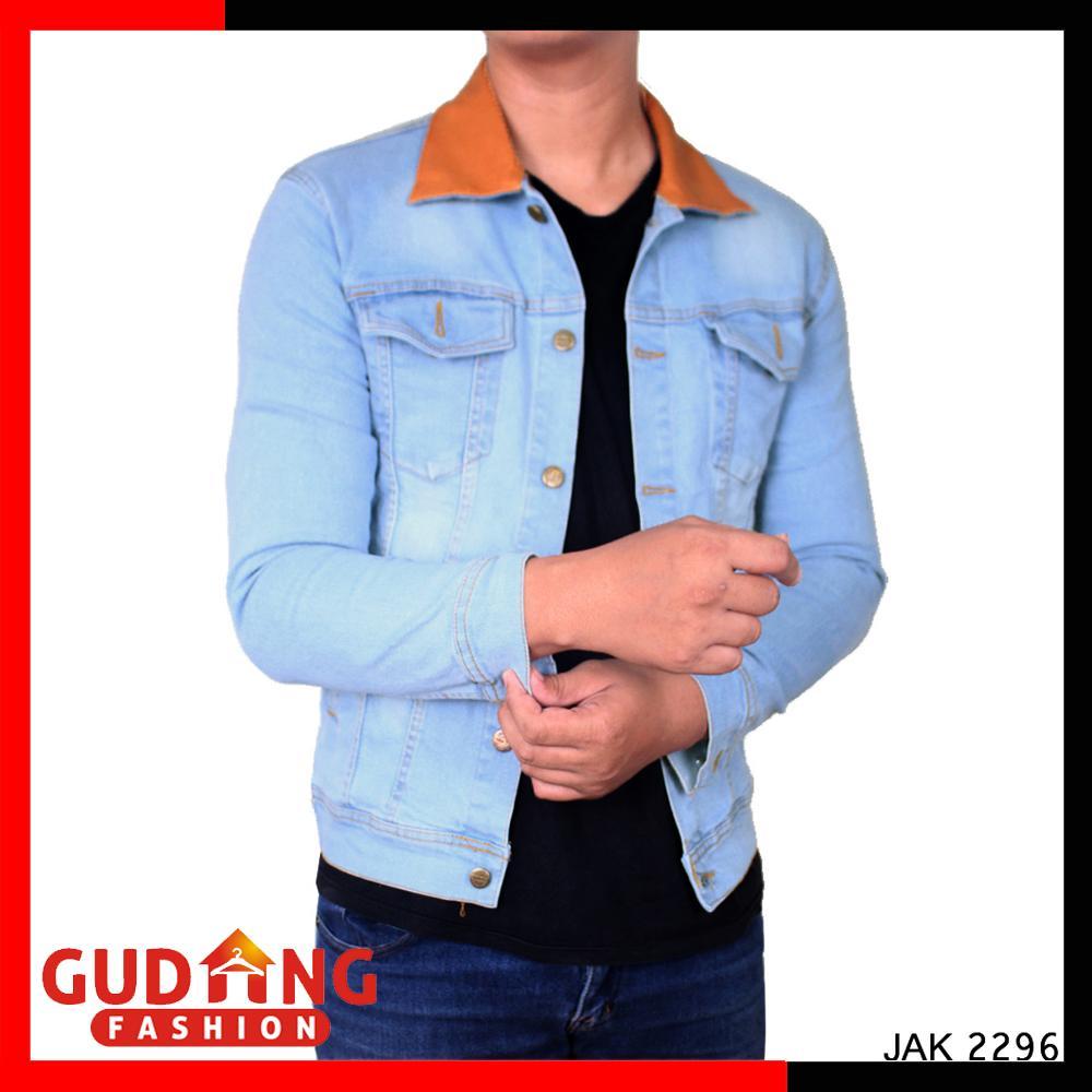 Gudang Fashion - Jaket Jeans Dilan 1990 / Jaket Denim Anak Muda Distro - Biru Muda