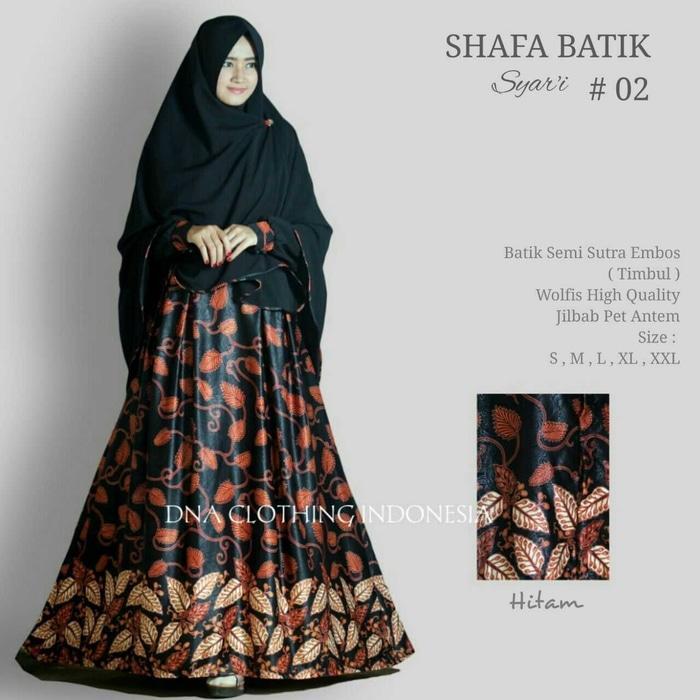 safa batik setelan gamis syari busui umbrella elegan adem simple ori