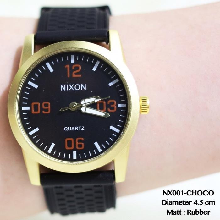 Jam tangan sport pria nixon tali karet model terlaris new ripcurl dkny