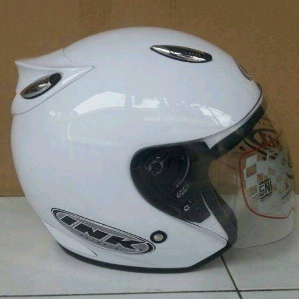 Helm basic ink Centro warna Putih