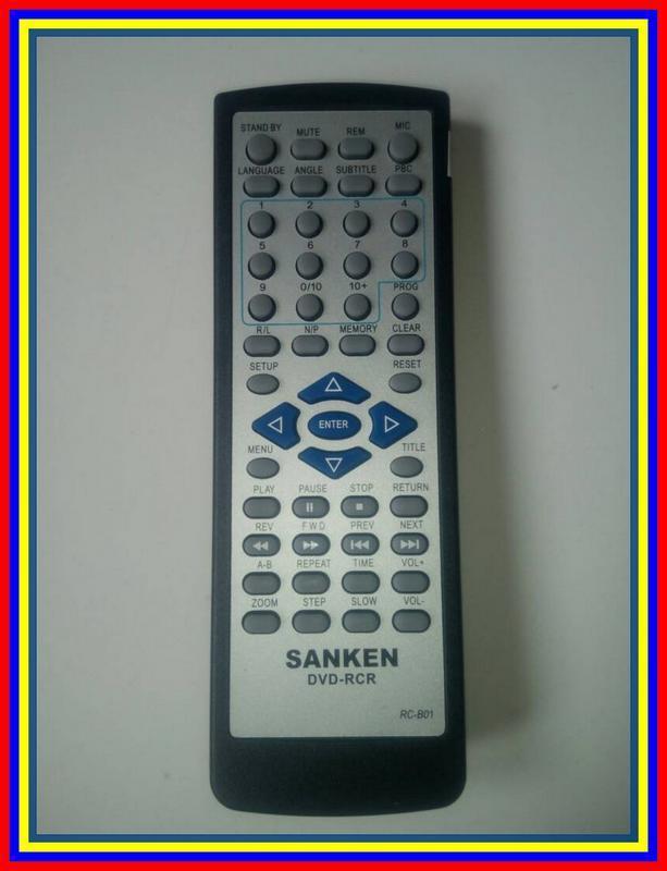 Remot Remote DVD Player Sanken RCb01 Ori Original Asli