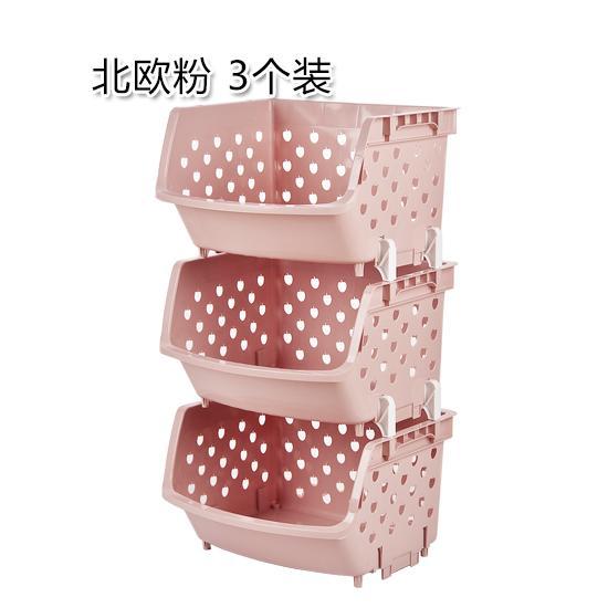 Household Plastic Storage Basket Kitchen Fruits And Vegetables Storage Basket 3 Layer Vegetables Basket Large Size Storage Shelf Vegetables Storage Basket