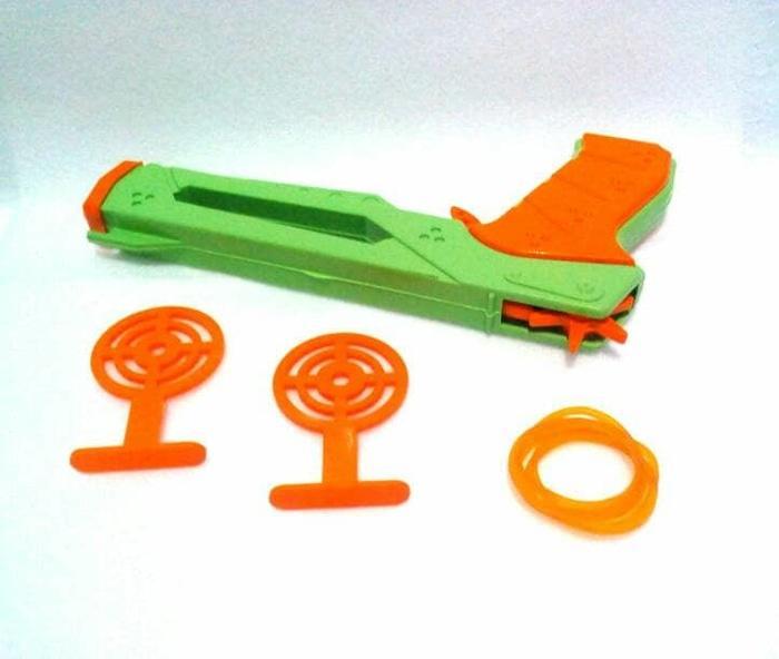Rp 4.000. Mainan anak tradisional pistol karet + targetIDR4000