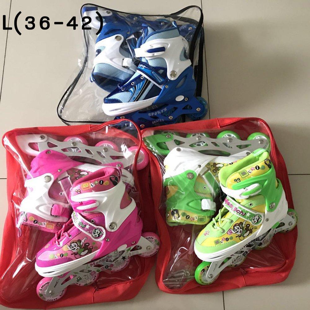 ... Sepatu Roda Anak Power Inline Skate POWER SUPERB Model BAJAJ semua roda  nyala - 3 ... 9b868bf6ca