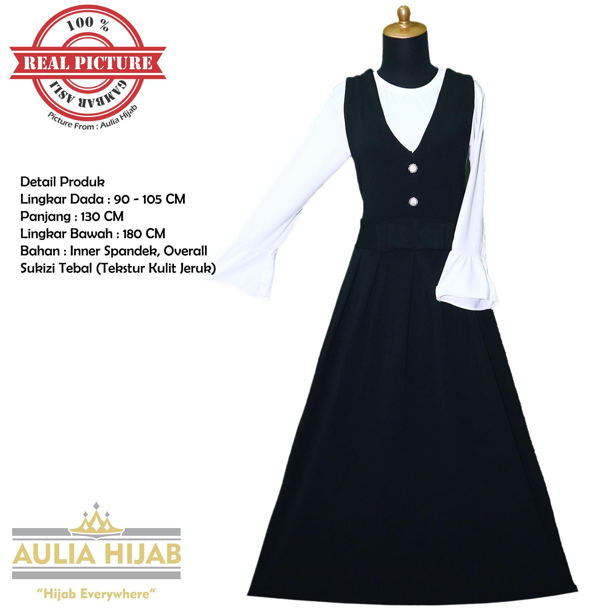 Aulia Hijab - Gamis Overall Annie Overall Bahan Sukizi Premium/Gamis Overall/Overall Murah/Gamis Langsung/Overall Terbaru/Baju Kodok/Gamis Pesta/Gamis Kerja/Gamis Sukizi/Gamis Premium/Sukizi Premium/Overall Gambar Asli/Overall Real Picture/Overall Premium