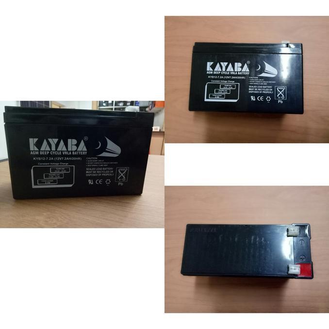 ELEKTRO - AKI BATTERY UPS VRLA 7 AH 12V KAYABA - BRUSHSTORES