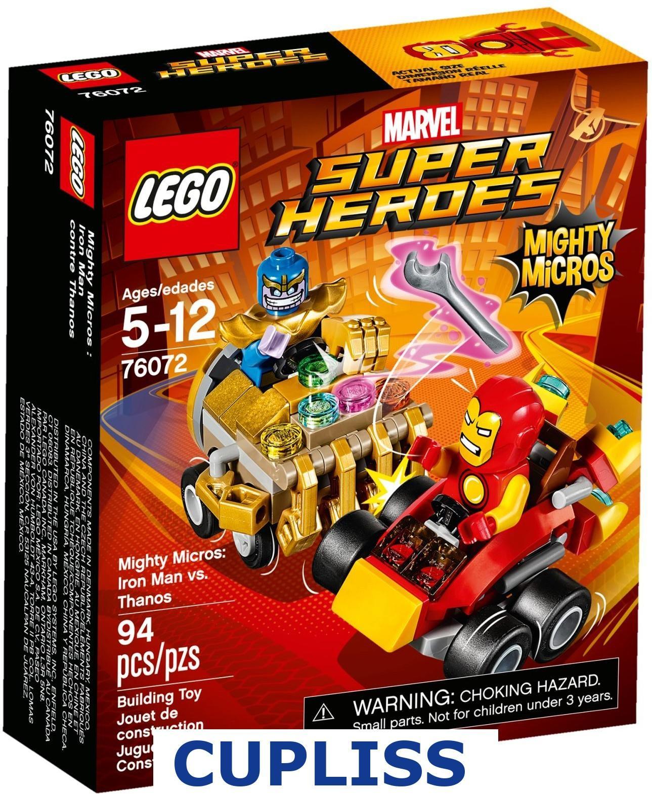 LEGO Superheroes 76072 Mighty Micros Iron Man vs Thanos Marvel