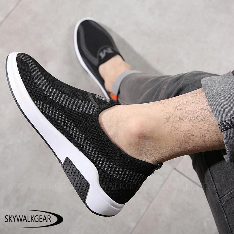 Skywalkgear Sepatu Sneakers Sepatu Pria Maskulin - M style - sepatu slip on pria sepatu kasual