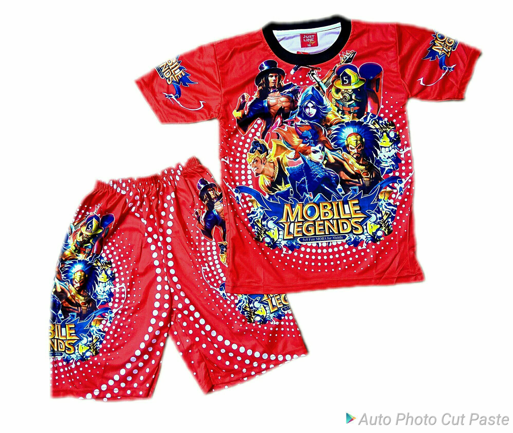 Full print setelan mobile legend 2 10 thn · LOKAL APPAREL Pakaian Anak Laki laki