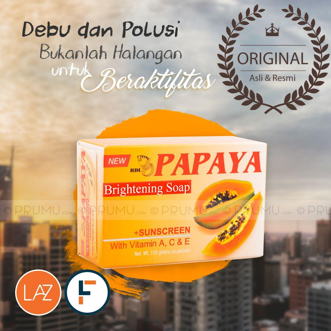 [Original] RDL Papaya Brightening Soap 135 gram - Sabun Pepaya - Papaya Soap - Whitening Soap by LAZADA