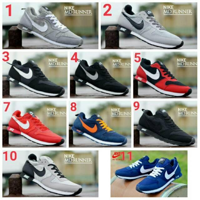 Sepatu olahraga pria nike MD runner import 39 40 41 42 43 44
