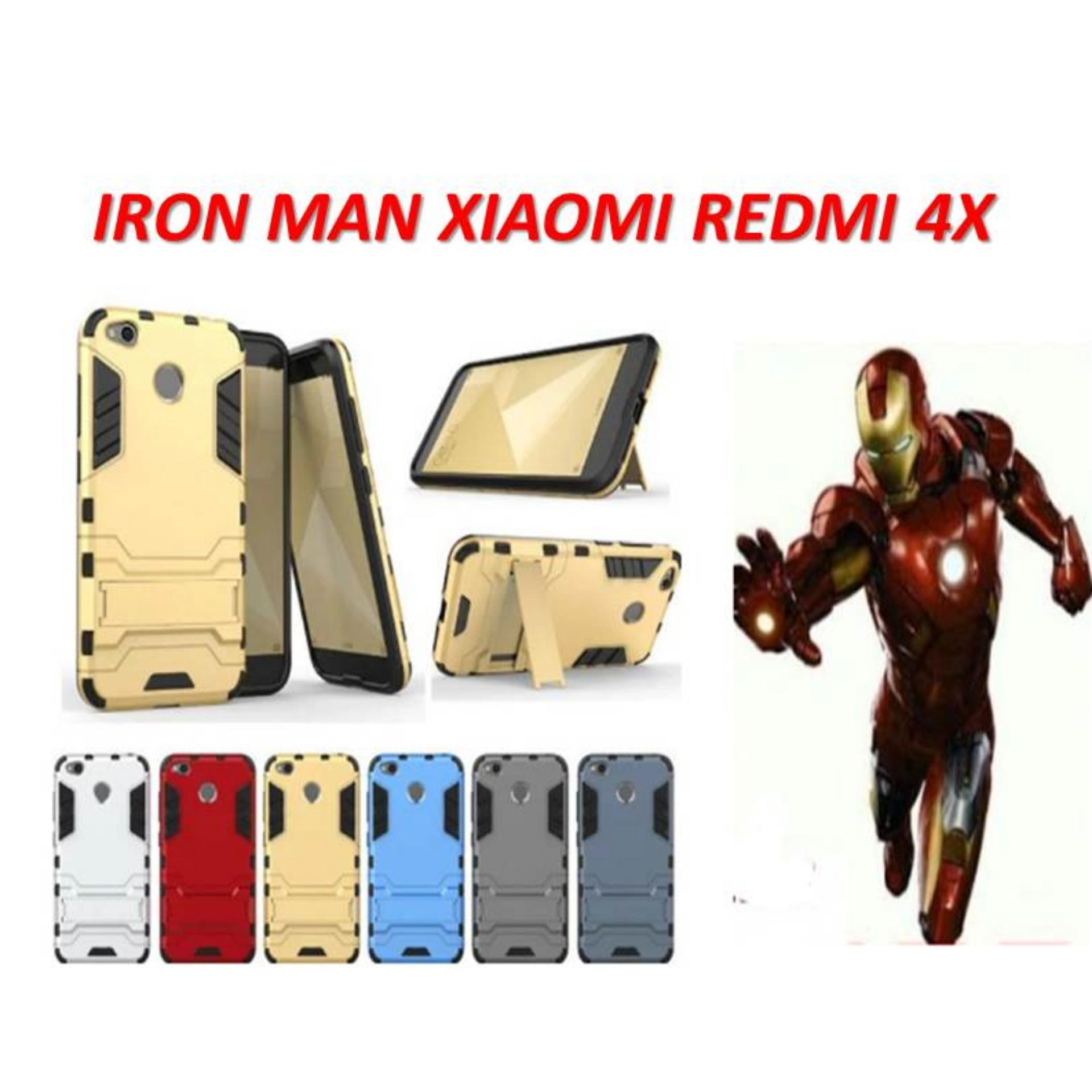 CASE ROBOT TRANSFORMER HARDCASE IRON MAN WITH STANDING FOR XIAOMI REDMI 4X LIMITED EDITION