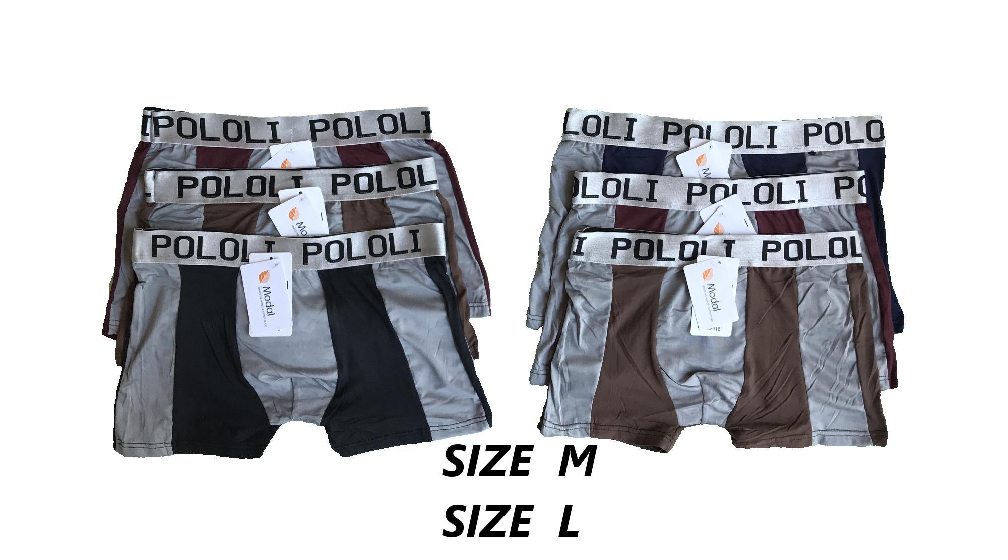 PADIe - 6 PCS Celana Dalam Pria model Boxer Multi Colour /sempak/underwear Laki-laki