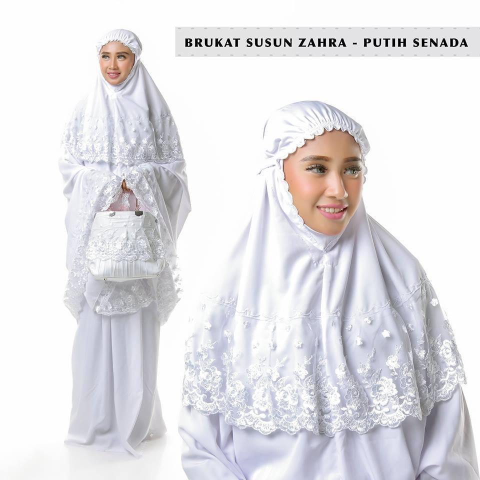 Mukena BeheL Brukat ZAHRA- Dewasa- RoseLLa- Mukenah CantikModern- Ririe Fashion Mukenah SaLem