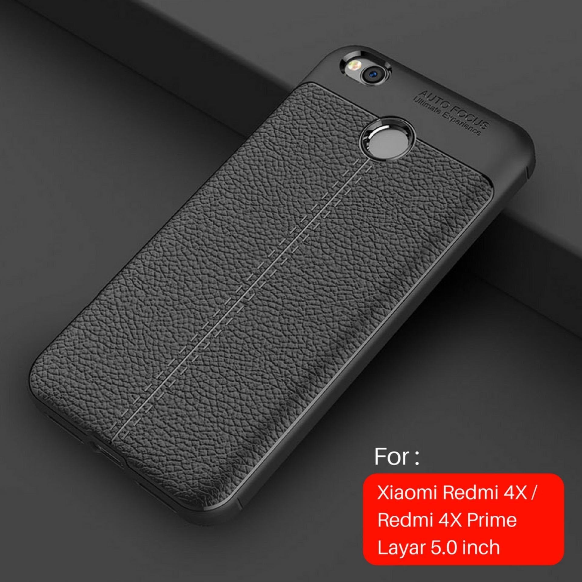 Gambar Produk Rinci Jak Shop Leather Softcase For Xiaomi Redmi 4X / 4X Prime Layar 5