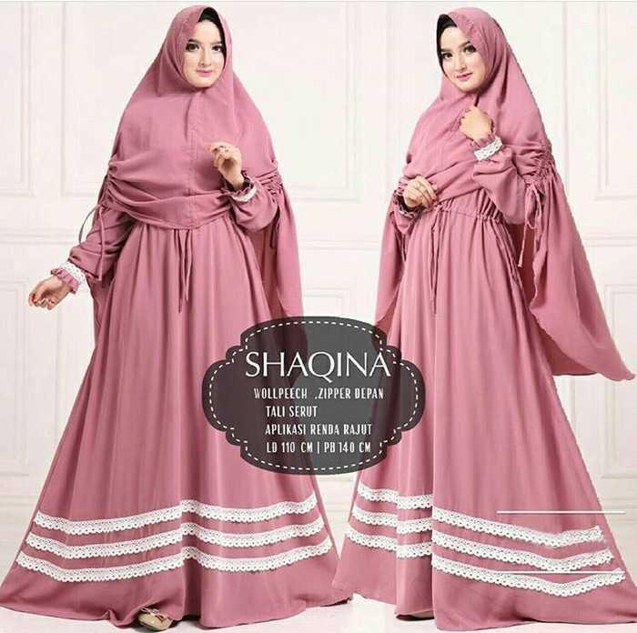 Baju Muslim Original Gamis Shaqina Syari Dress Dress Wolfice Baju Panjang Muslim Dress Casual Wanita Pakaian Hijab Modern Gamis Modis Trendy Gaun Terbaru
