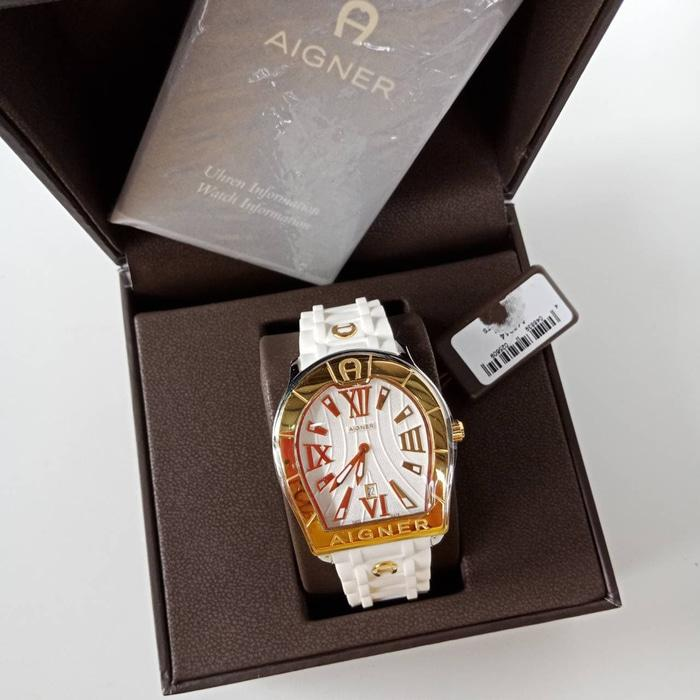 JAM TANGAN AIGNER ORIGINAL - AIGNER A48012 VERONA WHITE RUBBER WATCH