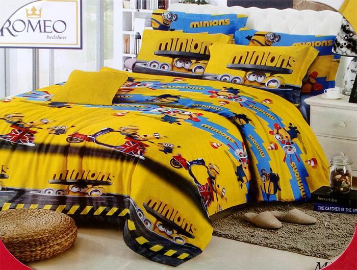 Bedcover Romeo ukuran 120 x 200 / Extra Single / No.3 - Minions