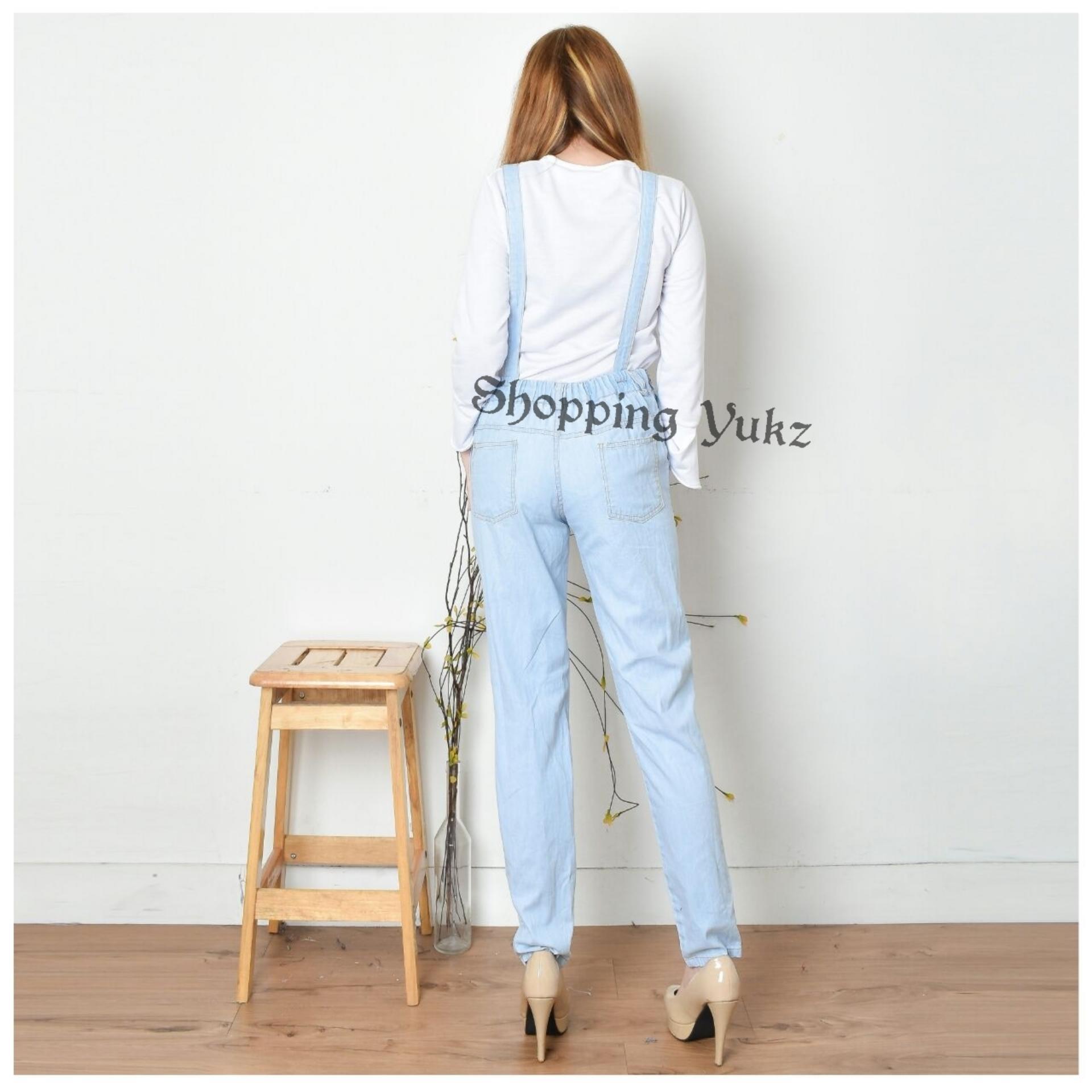 Toko Jual Shopping Yukz Overall Jumpsuit Jeans Denim Hijab Wanita Varka V130 Sepatu Sneaker Casual Pria Gambar Detail Barang Emna Tanpa Inner Jilbab Baju Kodok Muslim Ripped