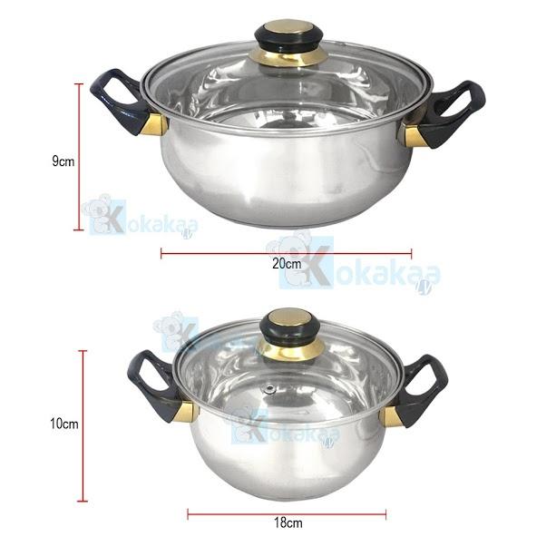 Niko Panci Set Cookware Stainless Set Lengkap NK3SP. Satu set alat memasak yang terbuat dari