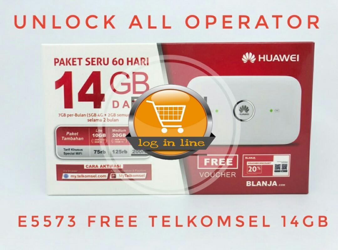 Modem Unlock 4G All Operator (GSM + CDMA) Mifi Router Telkomsel Free Telkomsel 14GB