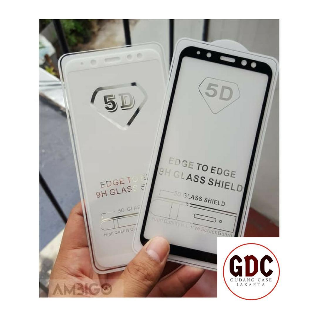 Ambigo Tempered Glass 5D  Samsung A6 2018 Full Cover - Hitam