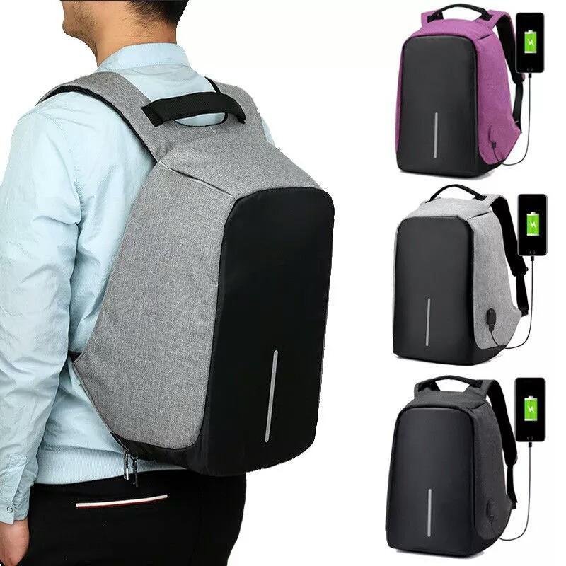 Gambar Produk Premium Quality Tas Ransel Smart Backpack Anti Thief USB Anti Maling Charge Cas Kerja
