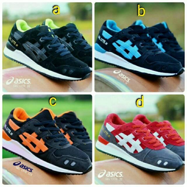 Sepatu Sneakers Asics Gel Lyte III Casual Santai Sport Jogging Olahraga Running Lari Cowok Murah