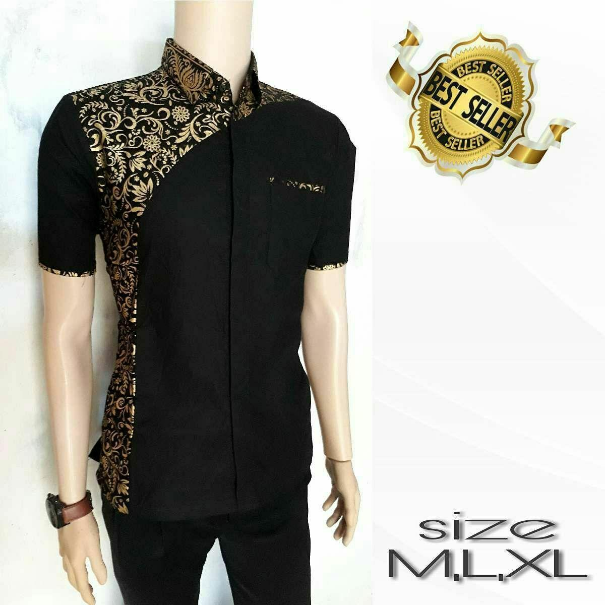 Kemeja Kombinasi Batik Exclusive
