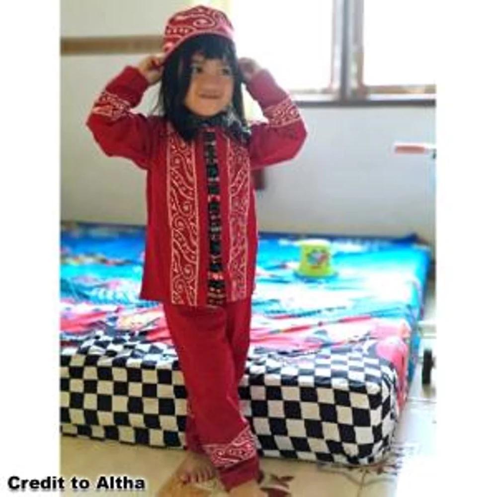 Daftar Harga Baju Muslim Anak Batik Terlaris Koko Ayah Couple Umur 1 Sampai 10 Tahun Motif Maruno