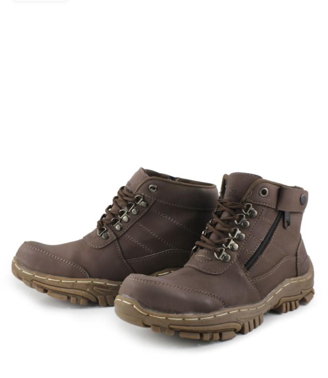 Sepatu Boots Pria Crocodille Delta Safety Ujung Besi (Sepatu Gunung - Tracking - Hiking And Touring) SEPATU Boots PDL Pria Kulit Asli sepatu motor rider touring sport sepatu gunung / TNI / Polri / Satpam (UJUNG BESI)