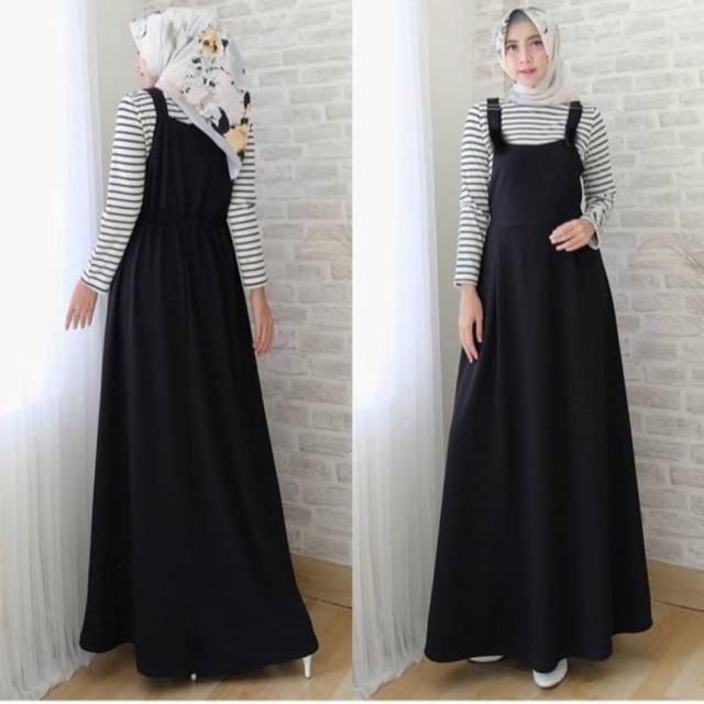 Damai fashion jakarta - 2in1 overall setelan hijab wanita NARAYA - KONVEKSI BAJU TANAH ABANG