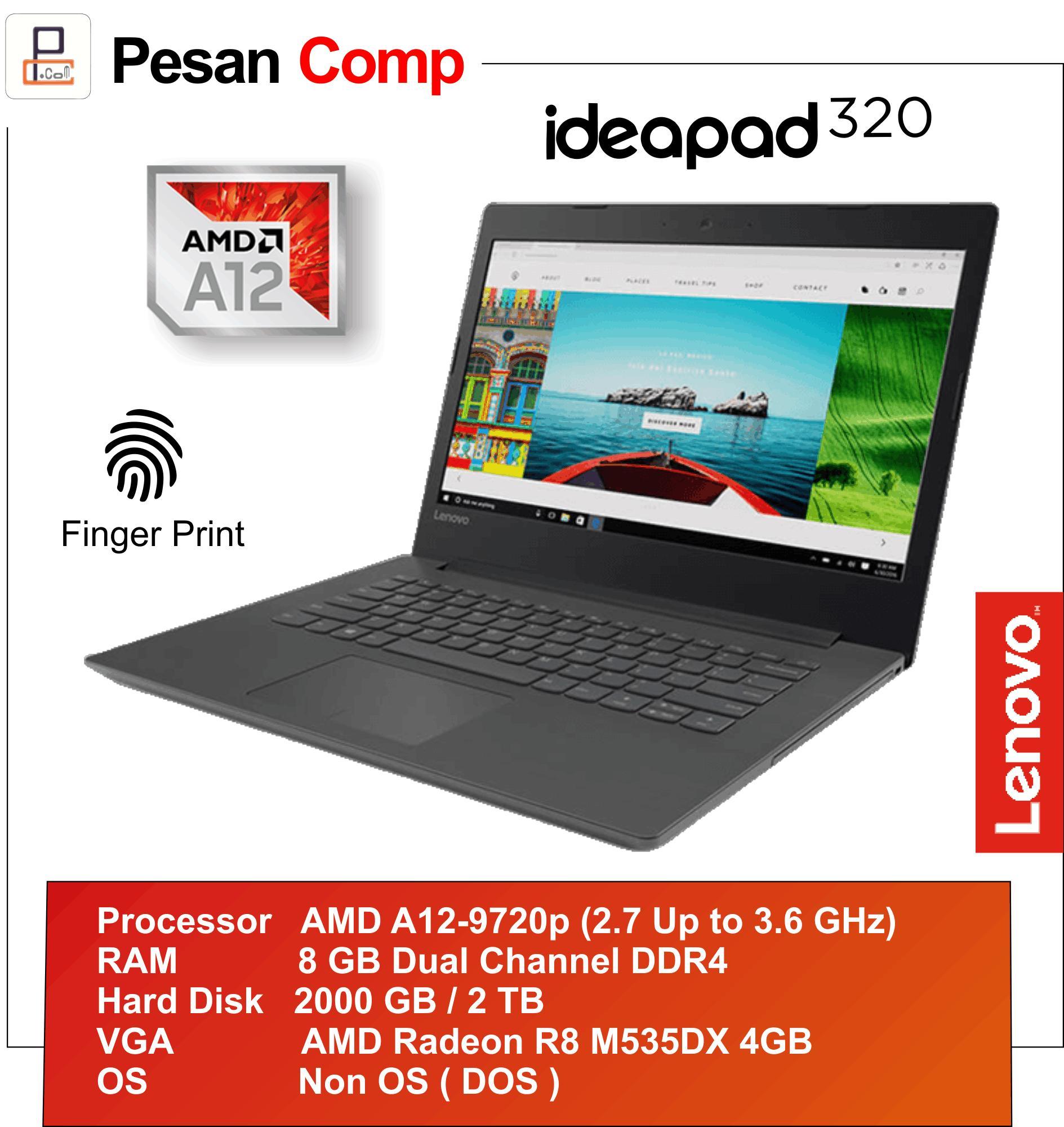 Lenovo IdeaPad 320 15ABR AMD A12 9720p 8GB 2TB R8