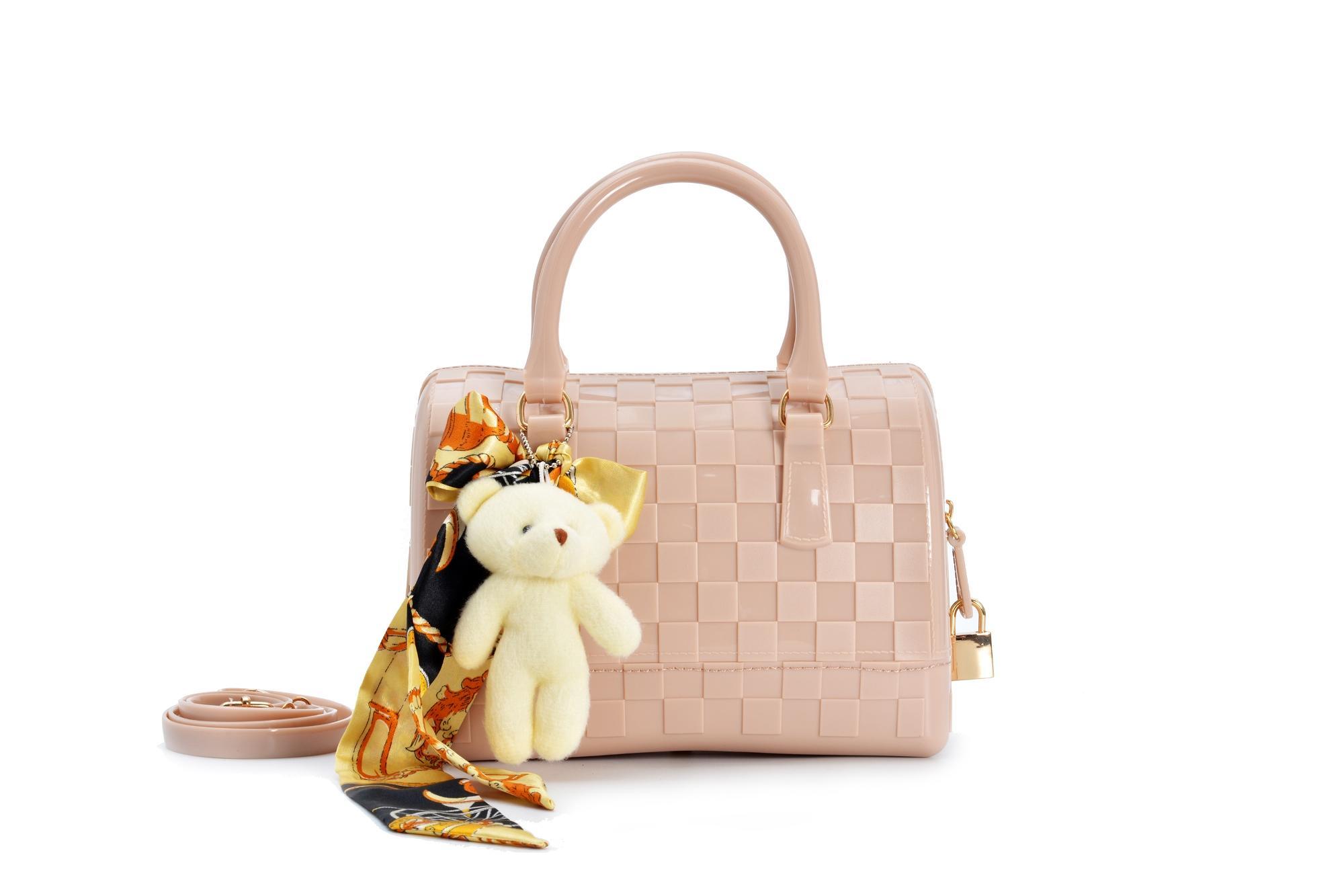 Tas Fashion Wanita Import, Tas Wanita, Tas Import Furla Jelly Tabung Speedy Mini FREE Accessoris Syal, Boneka dan Gembok