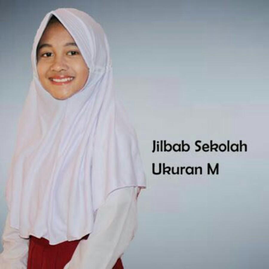 Jilbab instant anak sekolah ukuran M