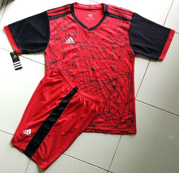 Baju Setelan Adidas Gotcha Hitam Merah Acc Futsal,Gym,Volly,Olahraga - FXEO1y