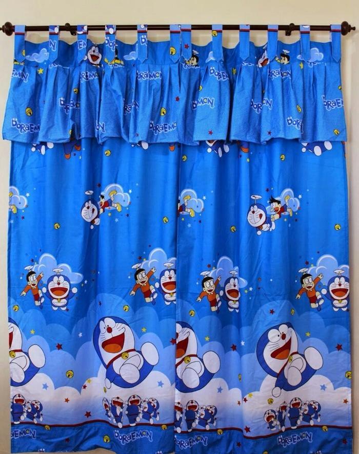 Gorden/Gordyn/Hordeng/Tirai/Korden Motif Doraemon Uk. 125x200 - gf77oE