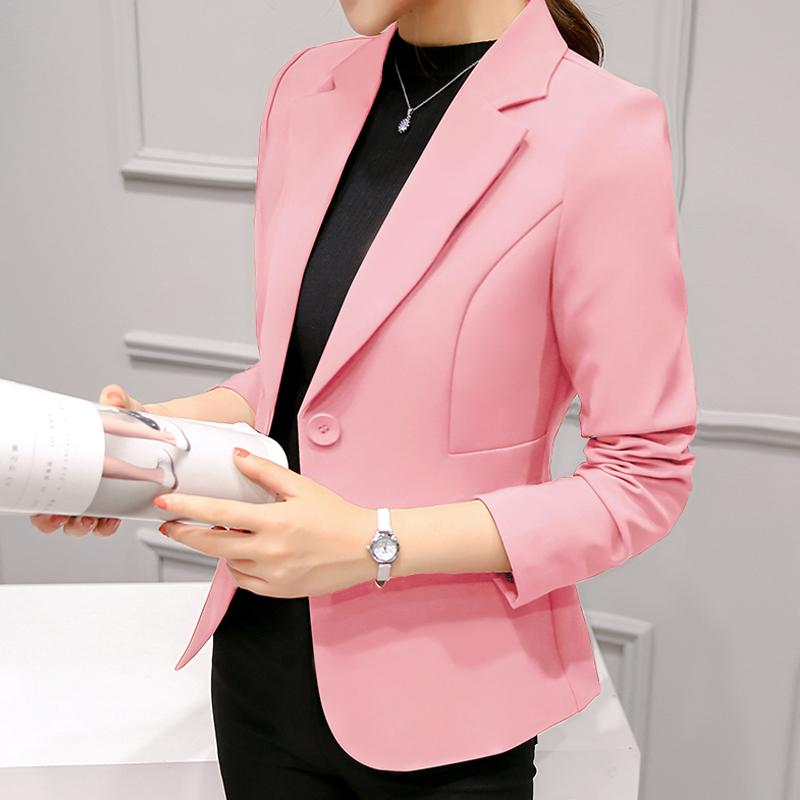 1d11aefab Caidaifei 2019 Spring And Summer New Style Slim Fit Korean Style Large Size  Small Suit Coat Long Sleeve Fashion Leisure Suit women