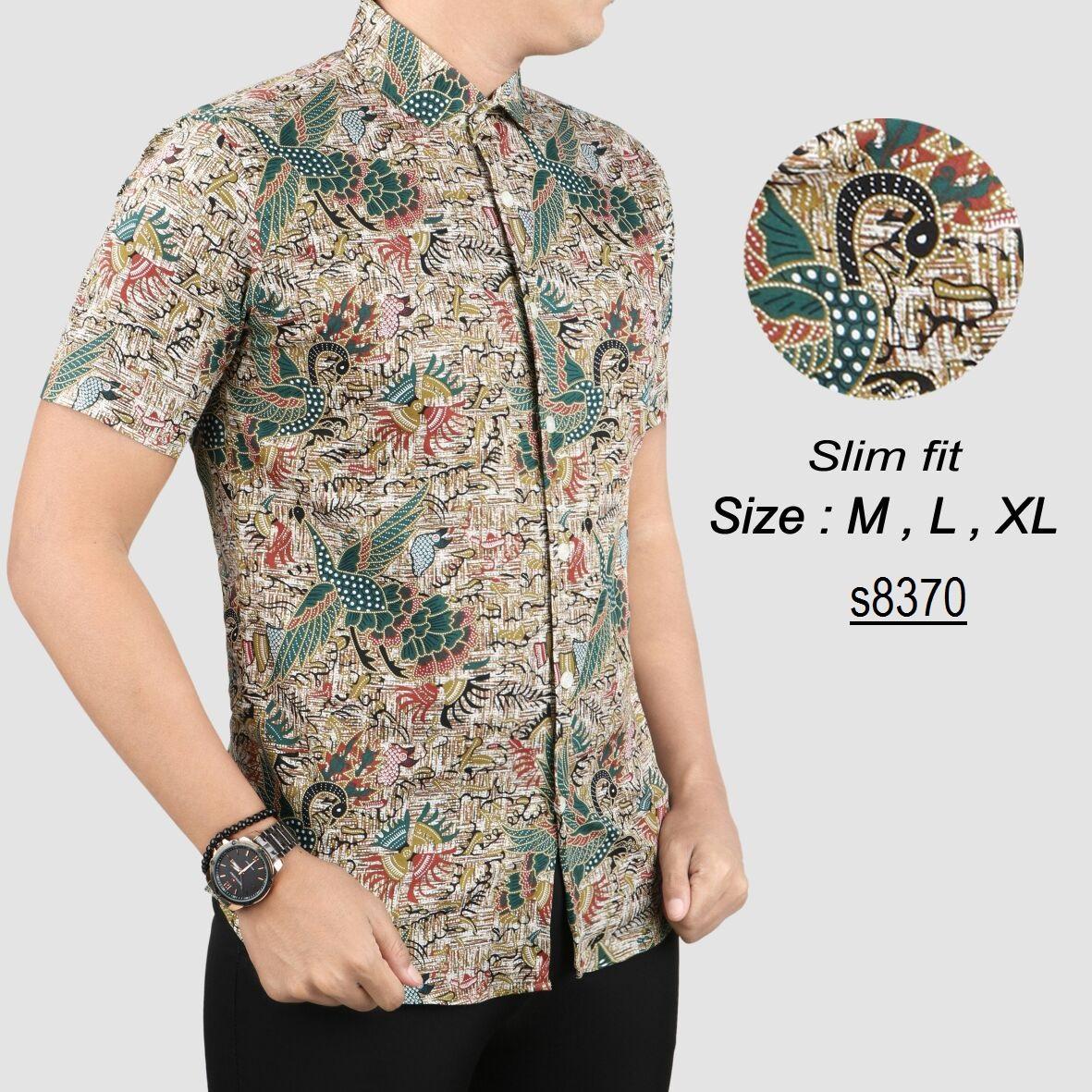 Batik Pria Modern Kemeja Pria Slim fit WW36