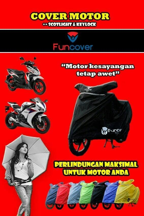 BEST SELLER!!! Cover motor / sarung motor FUNCOVER buat motor sport NMAX, AEROX, PCX - 1lTpze