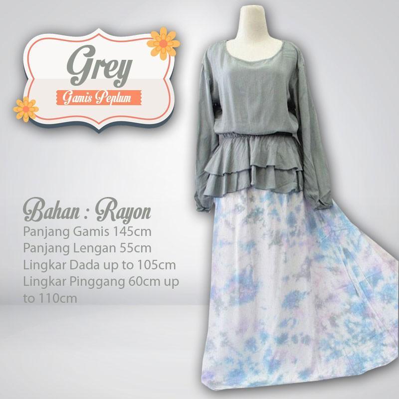 Gamis Peplum Rayon Bali