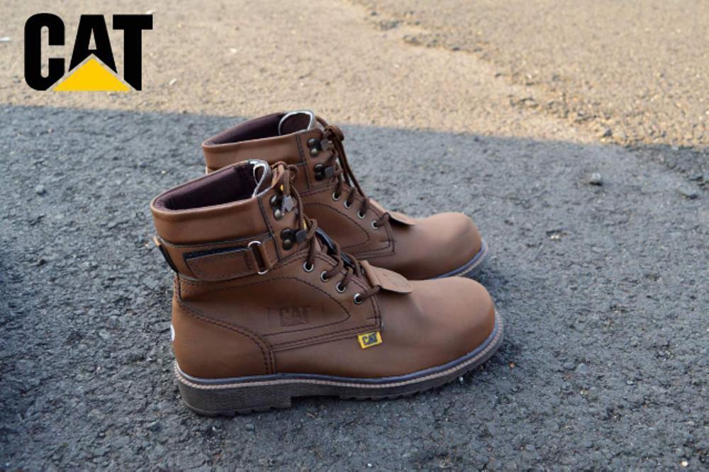 Promo Sepatu Boots Caterpillar safety murah touring pria gaya terbaru Fashion