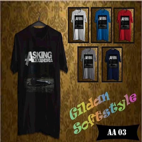 Kaos ASKING ALEXANDRIA Tag Original Gildan Softstyle